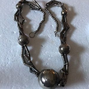 Antique silver beads necklace